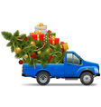 Christmas Pickup vector image vector image