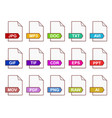 color files icons vector image