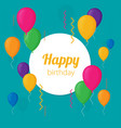 colorful birthday background in flat design style vector image