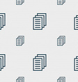 Copy file Duplicate document icon sign Seamless vector image