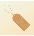 Cork natural tag label vector image vector image