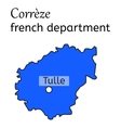 Correze french department map vector image vector image