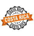 costa rica round ribbon seal vector image vector image