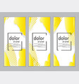 creative fluid style poster set dynamic shapes on vector image