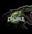 crocodile mascot sport logo design vector image vector image