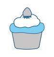 cupcake sweet dessert vector image vector image
