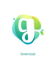 ecology lowercase letter g logo overlapping vector image vector image