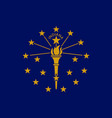 flag of the usa state of indiana vector image vector image