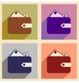 Flat with shadow icon concept wallet money and vector image vector image