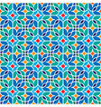 floral moroccan mosaic pattern vector image vector image