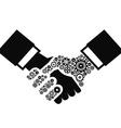 gears Handshake vector image vector image