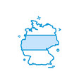 germany map icon design vector image