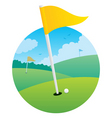 Golf flag vector | Price: 1 Credit (USD $1)