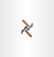 hammer abstract icon vector image vector image