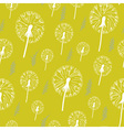 hand drawn pattern dandelion on a yellow vector image vector image