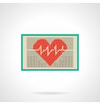 Heart monitor flat color icon vector image vector image
