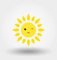 kawaii sun winking icon flat vector image