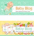 llustration for baby blog l little baby in bath vector image vector image