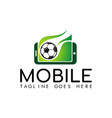 mobile soccer logo vector image vector image