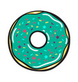 modern flat geometric donut vector image vector image