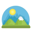 mountains glacier isolated icon vector image vector image