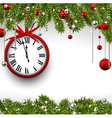 New year 2015 background with clock vector image vector image