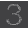 number three created from text vector image vector image