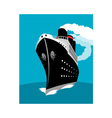 ocean liner passenger cruise ship vector image vector image
