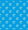 ocean or sea wave pattern seamless blue vector image