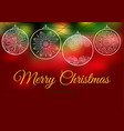 ornament on a red backgrounds christmas balls vector image