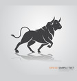 ox bull buffalo icon chinese happy new year poster vector image