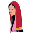 pink shawl on white background vector image vector image
