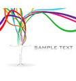 rainbow stream vector image