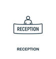 reception outline icon thin line concept element vector image vector image