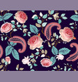 roses pattern colorful seamless floral vector image vector image