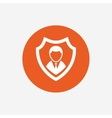 Security agency icon Shield protection symbol vector image