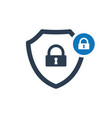 security icon with padlock sign vector image