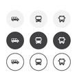 set 3 simple design bus icons rounded vector image