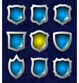 Set of shiny shields vector image vector image