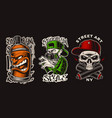 set with graffiti characters vector image vector image