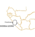 Sierra Leone hand-drawn sketch map vector image