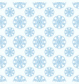 snowflakes seamless geometric pattern vector image vector image