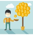 Successful chinese businessman standing while vector image vector image