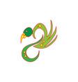 swan cute animal cartoon vector image