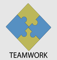 Teamwork icon flat design vector image