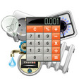 utilities payments concept with calculator vector image
