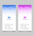 Vertical Business card abstract background vector image