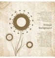 Vintage background with flower vector image