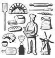 Vintage Bakery Elements Set vector image vector image