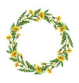 watercolor hand painted wreaths with vector image vector image